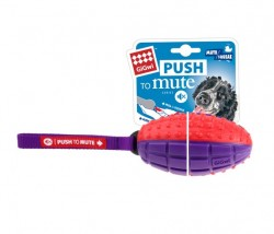 GiGwi - 6176 Push To Mute Rugby Top Ses Kontrol Natural