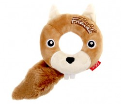 GiGwi - 6243 Plush Friendz Simit Sincap Oyuncak Sesli Pelu