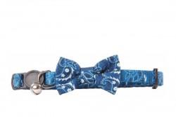 Pawise - 28022 Papyonlu Kedi Tasması Mavi