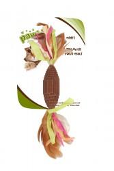 Pawise - 28236 Tüylü Şeker Doğal Kedi Oyuncağı