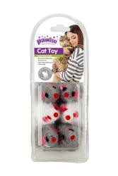 Pawise - 28282 Peluş Fare Kedi Oyuncağı 6 'lı