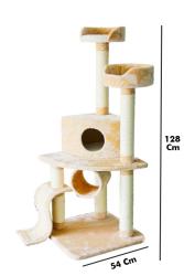 Pawise - 28713 Multi Fonksiyonlu Kedi Tırmalama 54x54x128 c