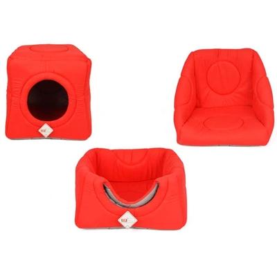 Pet Preety - 3 Fonksiyonlu Kumaş Yuva Kırmızı