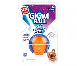 GiGwi - 6294 Gigwi Ball Sert Top 5 cm Şeffaf Renkli