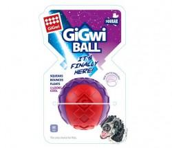 GiGwi - 6296 Gigwi Ball Sert Top 6 cm Kırmızı Mor