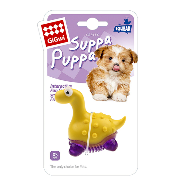 6984 Suppa Puppa Dinazor Diş Kaşıma Sarıl/Mor