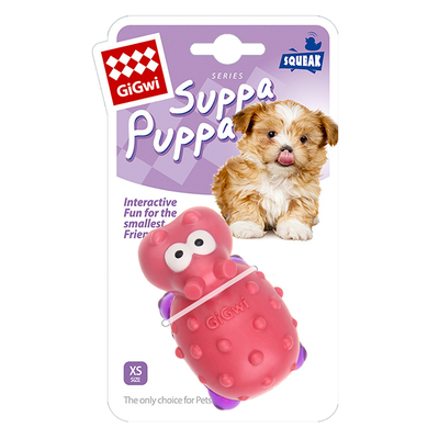 GiGwi - 6985 Suppa Puppa Hipopotam Diş Kaşıma Pembe/Mor