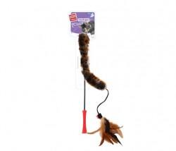 GiGwi - 7014 Feather Teaser Kedi Oltası Kuyruklu Doğal Tüy