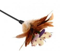 7063 Feather Teaser Kedi Oltası Doğal Tüylü 60 cm - Thumbnail
