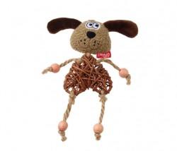GiGwi - 7268 Catnipli Köpek Peluş Ahşap Kedi Oyuncagı