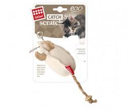 GiGwi - 7287 Catnipli Fare Natural Kumaşlı Kedi Oyuncagı