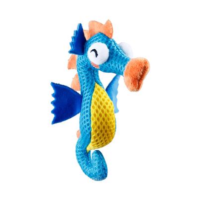GiGwi - 7461 Kauçuk Diş Kaşıma Deniz Atı Mavi