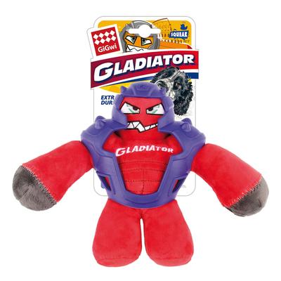 GiGwi - 8044 Sesli Gladiatör Peluş Oyuncak Kırmızı Medium