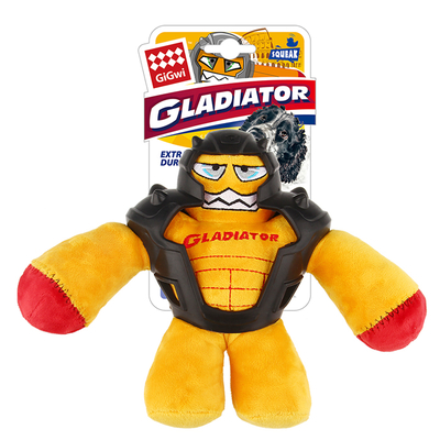 GiGwi - 8045 Sesli Süper Kahraman Peluş Oyuncak Sarı Mediu