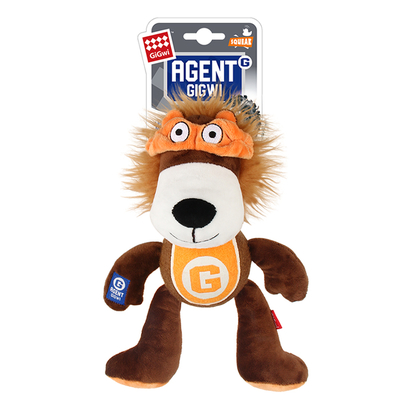 GiGwi - 8087 Sesli Tenis Toplu Aslan Köpek Oyuncağı