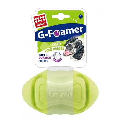 GiGwi - 8206 Kauçuk Diş Kaşıma Topu Rugby Yeşil