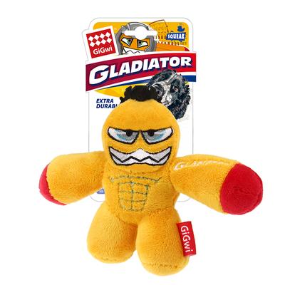 GiGwi - 8286 Sesli Gladiatör Peluş Oyuncak Sarı Small