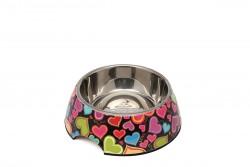 Super Design - AP990011 S Renkli Kalp Desen Melamin Mama Kabı