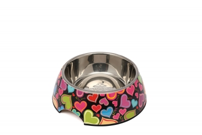 AP990011 S Renkli Kalp Desen Melamin Mama Kabı