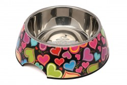 Super Design - AP990013 L Renkli Kalp Desen Melamin Mama Kabı