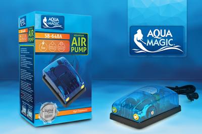 - Aqua Magic SB-648A Çift Çıkışlı hava Motoru