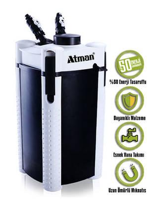 Atman - Atman 3337S Pompalı Dış Filtre.