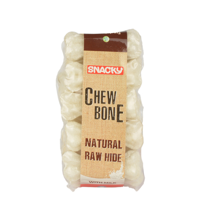 Snacky - Beyaz Çiğneme Kemiği 5 cm 10 gr 10 Ad.10'lu Kutu