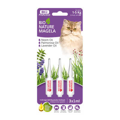 Bio PetActive - Bio Nature Magela Cat Ense Damlası 1-5 Kg 1 ml