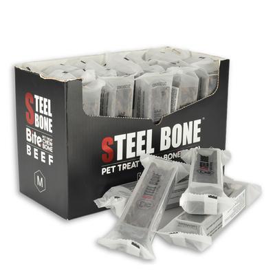 Steel Bone - Steel Bone Biftekli Köpek Ödülü M 99gr 24 Ad.