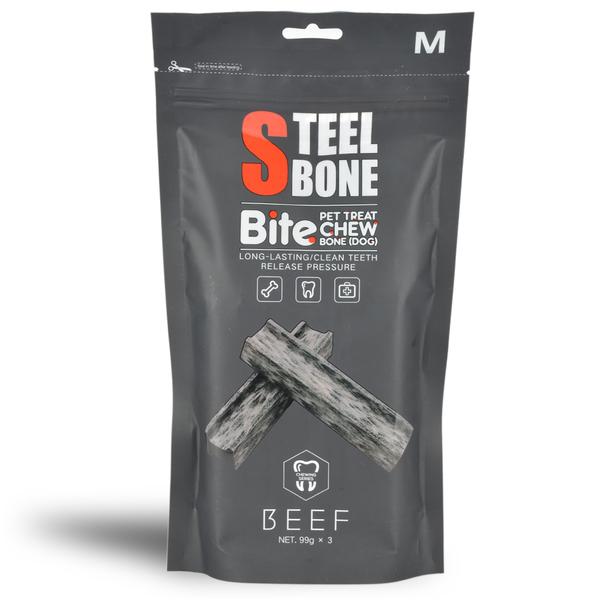 Steel Bone Biftekli Köpek Ödülü 99gr x 3'lü Poşet