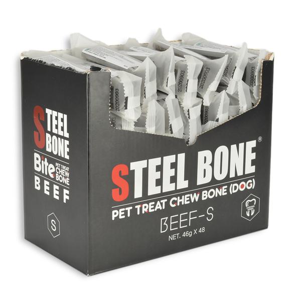 Steel Bone Biftekli Köpek Ödülü 46 gr 48 Ad. Kutu