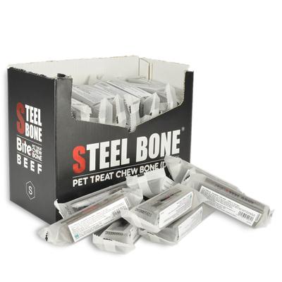 Steel Bone - Steel Bone Biftekli Köpek Ödülü 46 gr 48 Ad. Kutu