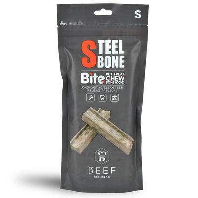 Steel Bone Biftekli Köpek Ödülü 46gr x 6'lı Poşet - Thumbnail