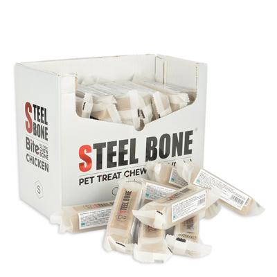 Steel Bone - Steel Bone Tavuklu Köpek Ödülü 46 gr 48 Ad. Kutu