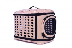 Dougesi - DK-004 Bej Kedi-Köpek Taşıma Çantası 38*43*32