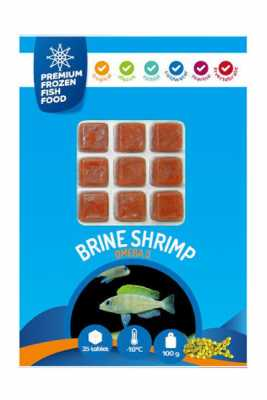 Dondurulmuş Yem Brine Shrimp Garlic 100gr Sarımsak