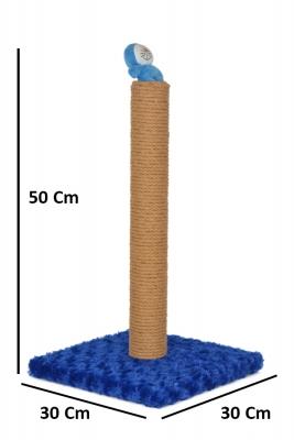 İnce Oyuncaklı Tırmalama 50 cm Mavi - Thumbnail
