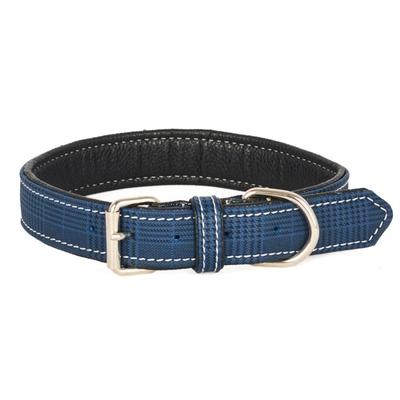 Flip - Ekose Yum.Doku Mavi 48 cm Köpek Boyun Tasması