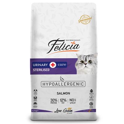 Felicia - Felicia Az Tahıllı 12 Kg Sterilised Somonlu HypoAllergenic Kedi Maması