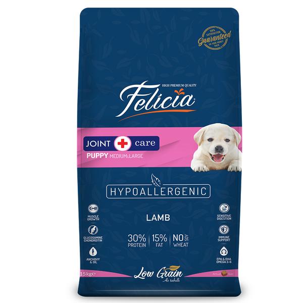 Felicia Az Tahıllı 15 Kg Yavru Kuzulu M/Large Breed HypoAllergenic Köpek Maması