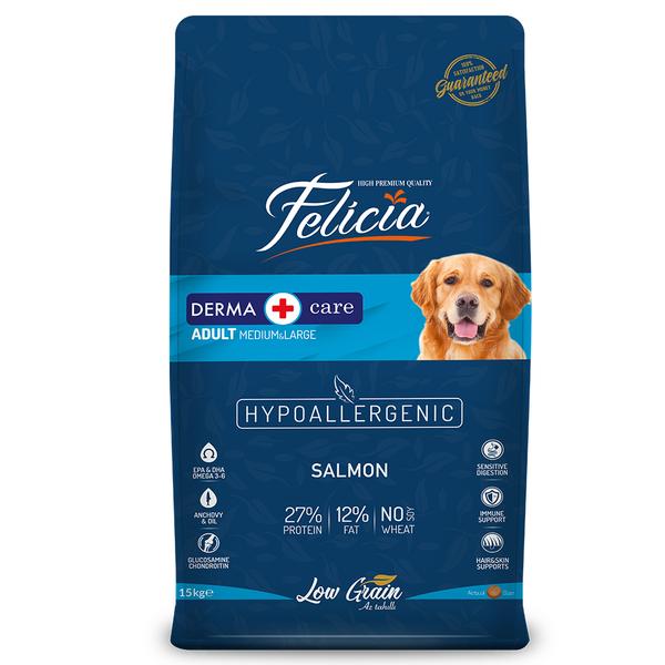 Felicia Az Tahıllı 15 Kg Yetişkin Somonlu M/Large Breed HypoAllergenic Köpek Maması