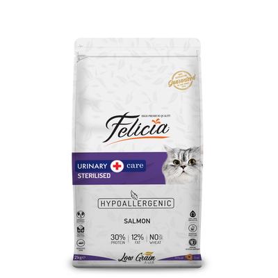Felicia - Felicia Az Tahıllı 2 Kg Sterilised Somonlu HypoAllergenic Kedi Maması