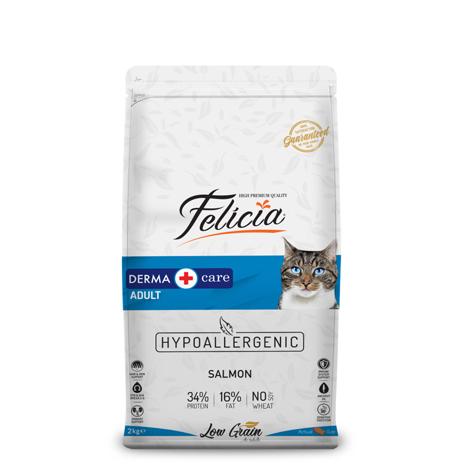 Felicia - Felicia Az Tahıllı 2 Kg Yetişkin Somonlu HypoAllergenic Kedi Maması