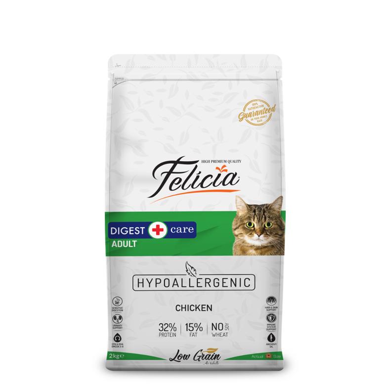 Felicia Az Tahıllı 2 Kg Yetişkin Tavuklu HypoAllergenic Kedi Maması