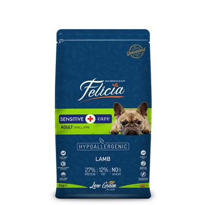 Felicia - Felicia Az Tahıllı 3 Kg Yetişkin Kuzulu Small/Mini HypoAllergenic Köpek Maması