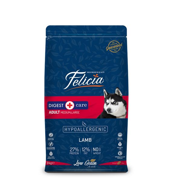 Felicia Az Tahıllı 3 Kg Yetişkin Kuzulu M/Large Breed HypoAllergenic Köpek Maması