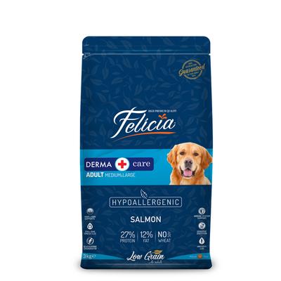 Felicia - Felicia Az Tahıllı 3 Kg Yetişkin Somonlu M/Large Breed HypoAllergenic Köpek Maması