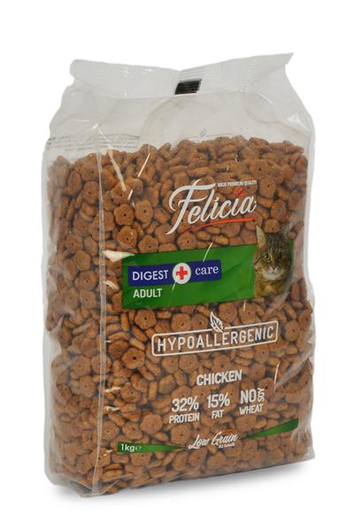 Felicia Az Tahıllı 12 X 1 Kg Yetişkin Tavuklu HypoAllergenic Kedi Maması - Thumbnail