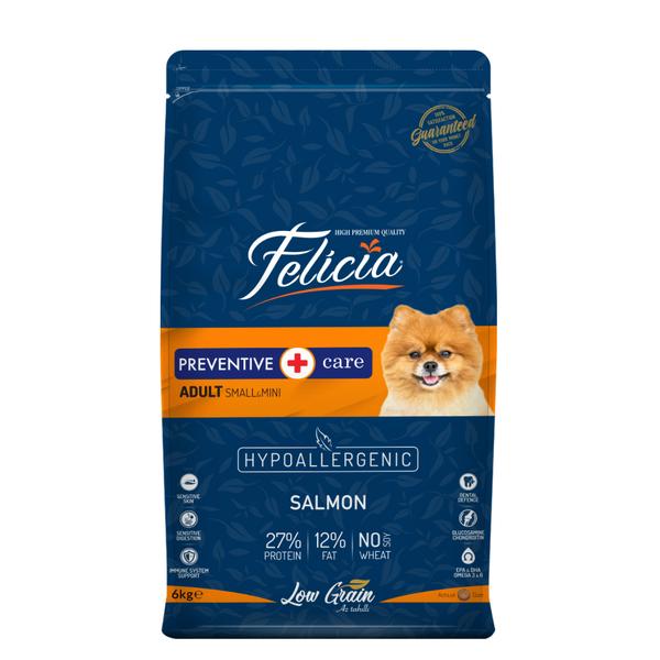 Felicia Az Tahıllı 6 Kg Yetişkin Somonlu Small /Mini HypoAllergenic Köpek Maması