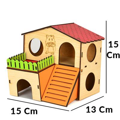 Flip Hamster Evi 2 Katlı Medium - Thumbnail